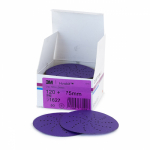 3M Hookit Rond 75mm Cubitron Purple